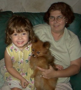 Bethany & Mom with pom pup sm